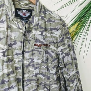 Jackets & Blazers - Harley Davidson camo jacket
